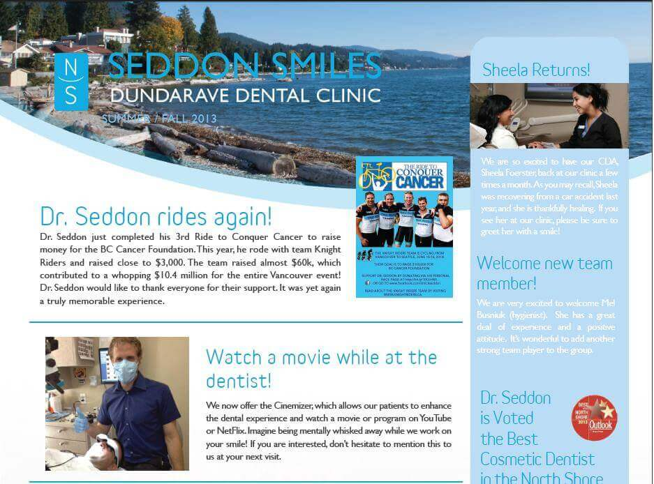 Seddon Smiles West Vancouver Newsletter